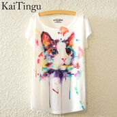 t-shirt,cats,cat shirt,cat printed shirt,water colour,water colour print,cat printed,cat print,cat printed color,colorful cat,cute top,cat tshirts,cat tshirt,cat printed tshirt,colorful,water color,white with paint splatter,paint splashed,cat eye