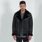 Men's shearling biker jacket