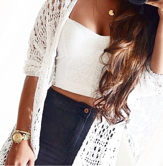 top crop tops white crop tops white top lace top cardigan