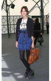 alexa chung,bag,skirt
