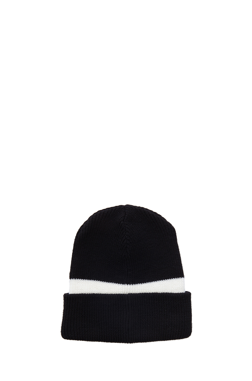 Opening Ceremony|x DKNY Logo Merino Wool Beanie in Black & White