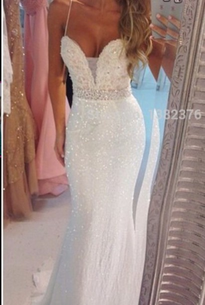 dress white dress prom dress debs dress sparkly dress glitter dress floor length dress boobtube