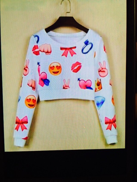 sweater emoji sweatshirt emoji print blouse