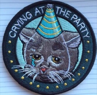 home accessory pitty party cool patches melanie martinez crybaby tumblr cute cats tear