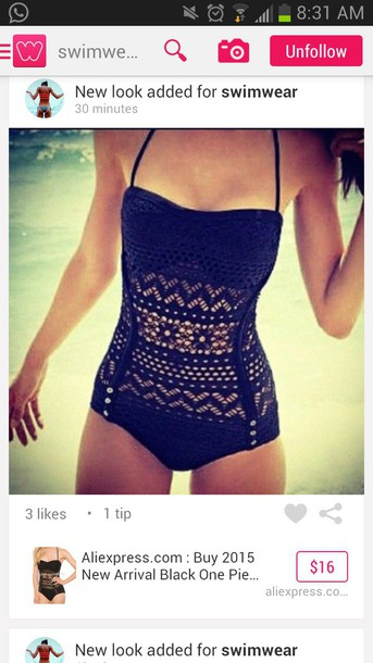 swimwear swimwear swimwear bathing suit top cute pretty black classy black swimwear swimsuite black swimwear