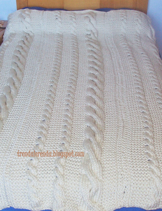 Blanket of braids woven two-needle Huopa