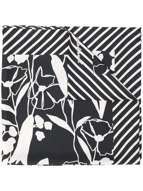 WEEKEND BY MAX MARA women scarf striped scarf floral black silk