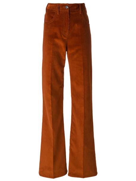 Prada women cotton brown pants