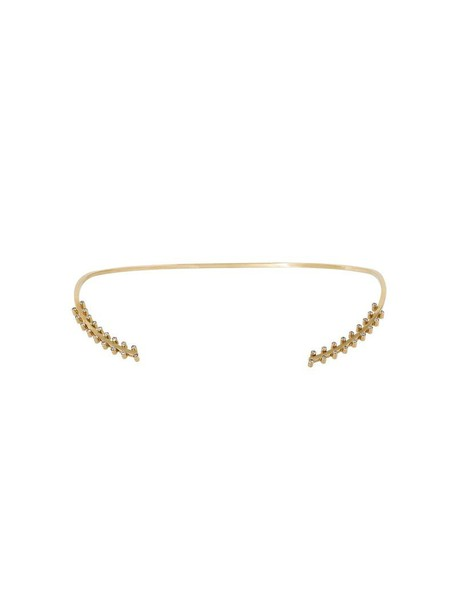 Jagga women gold grey metallic jewels