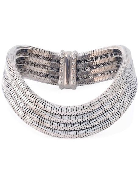 mini women grey metallic jewels