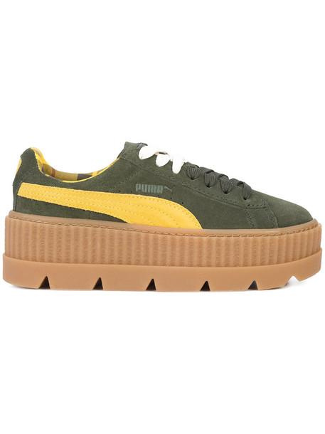 Fenty x Puma women sneakers leather green shoes