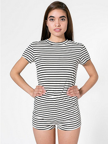 Stripe T-Shirt Romper | American Apparel