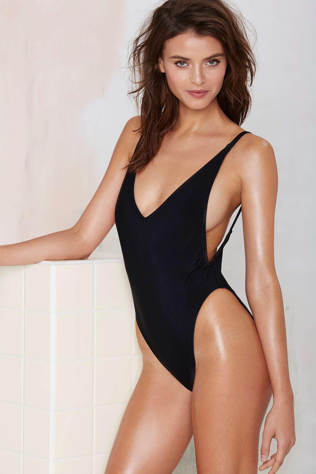b5ac9d98b30fa Nasty Gal Alina Swimsuit - Black
