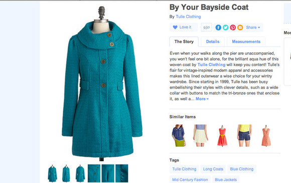 tulle coat teal turquoise jacket vintage blue
