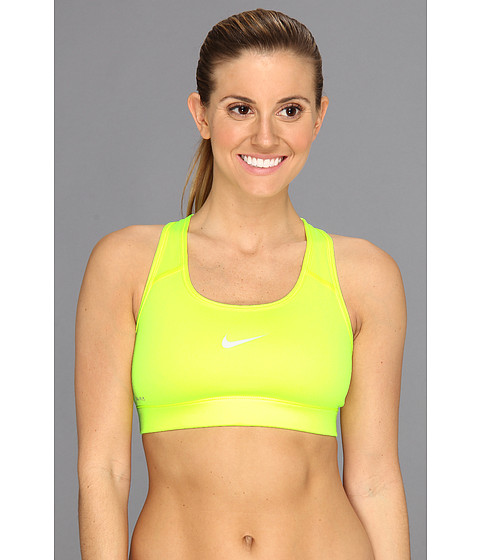 Nike Pro Victory Compression Sports Bra Volt/Dusty Grey - Zappos.com Free Shipping BOTH Ways