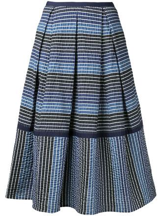 skirt midi skirt women midi spandex cotton blue silk