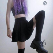 socks,pale grunge,pale,grunge,skirt,shirt,shoes,black,high waisted,dress