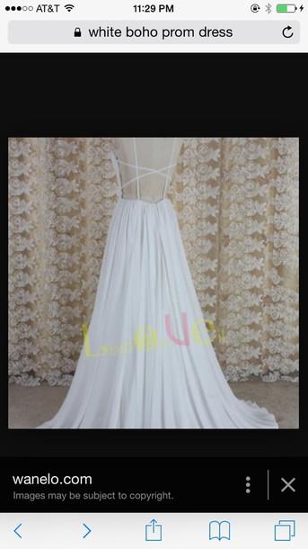 dress white backless maxi dress