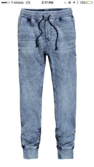 pants joggers blue