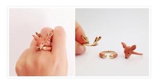 jewels hipster deer cute ring