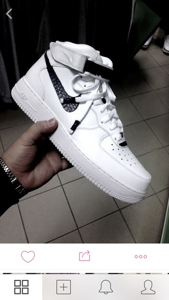 shoes nike nike air air force 1 air force white brown all white everything white sneakers high top sneakers