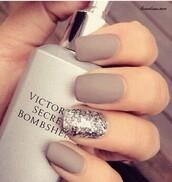 nail polish,nails,nude,matte,off of pinterest,grey