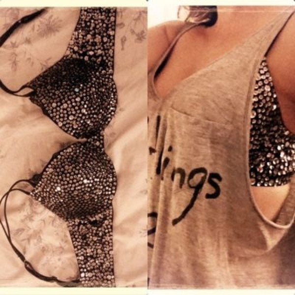 tank top bra bling underwear glitz cute undershirt top sequin bra funny nice shiny glitter for those tops that shows bras diamonds shirt