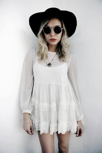dress white clothes z berg jjamz phases coachella top baby doll top retro cute baby doll