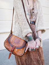 bag,leather,shoulder bag,brown,vintage,gypsy,boho,tumblr,tumblr outfit,cute
