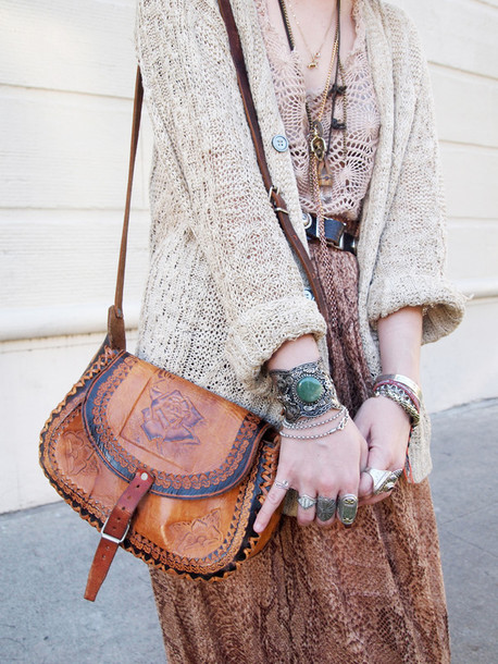 bag leather shoulder bag brown vintage gypsy boho tumblr tumblr outfit cute