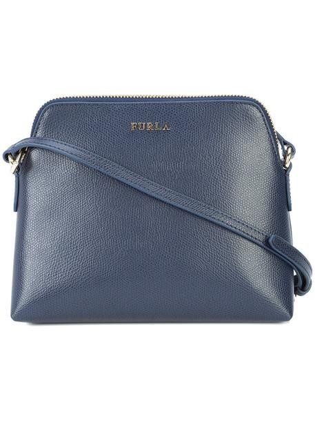 Furla women bag shoulder bag leather blue