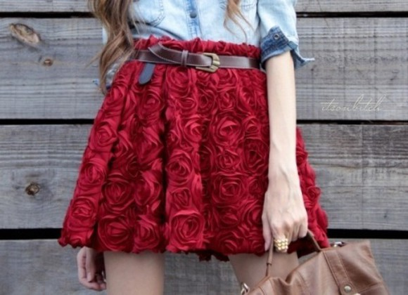 floral clothes roses red 3d roses