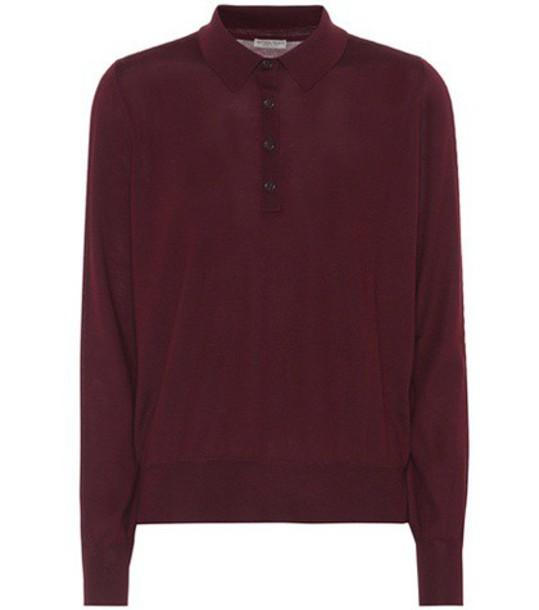 Bottega Veneta sweater polo sweater wool purple