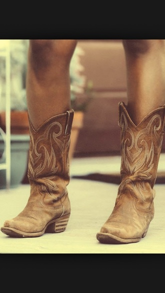 boots light brown cowgirl boots cowboy boots country style country brown leather brown leather boots