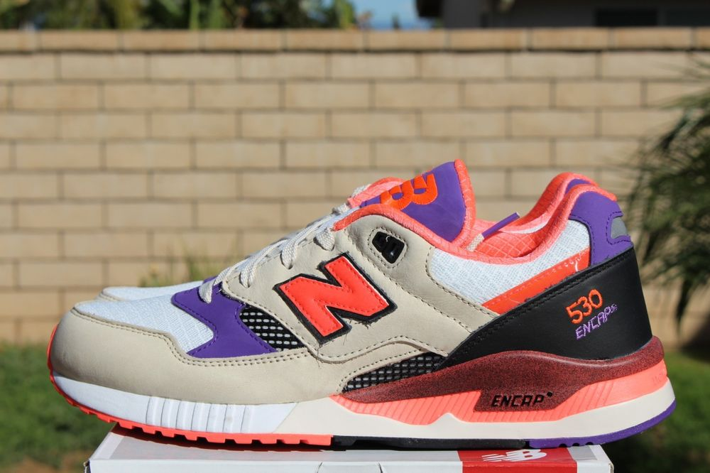 New balance x west nyc project 530 sz 13 white pink lava purple tan m530wst