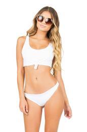 swimwear,bikini,bikini top,bikini bottoms,white top,white crop tops,crop tops,cropped,cropped bikini top,crop top bikini,white bikini,white,white swimwear,cheeky bikini,cheeky,fashion,top,gift ideas,lolli swim