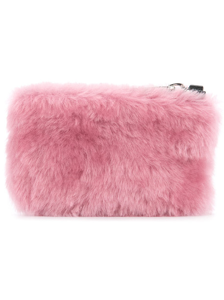 Cityshop fur women clutch purple pink bag