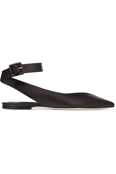 Jimmy Choo flats leather black shoes