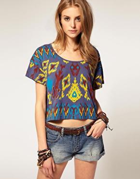 Shirt oversize ã imprimã© ikat chez asos