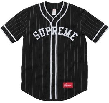 Supreme: Baseball Jersey - Black ($100-200) - Polyvore