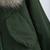 Army Green Faux Fur Hooded Drawstring Coat - Sheinside.com