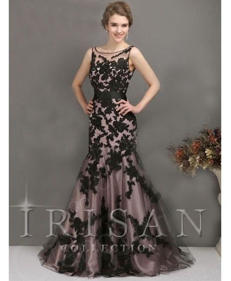 New Black Applique Mermaid Party Prom Evening Cocktail Dress Formal Wedding Gown | eBay