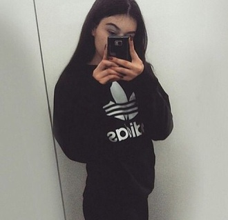 sweater adidas black sweatshirt