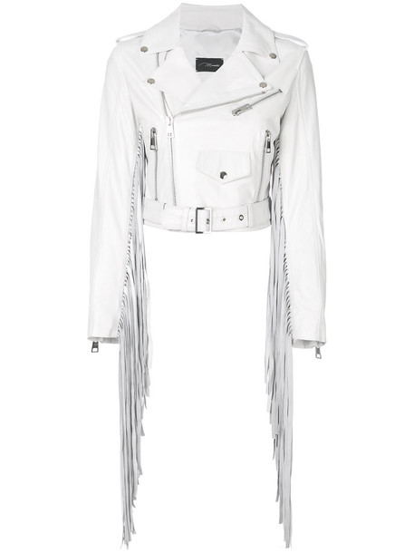 jacket biker jacket women leather white
