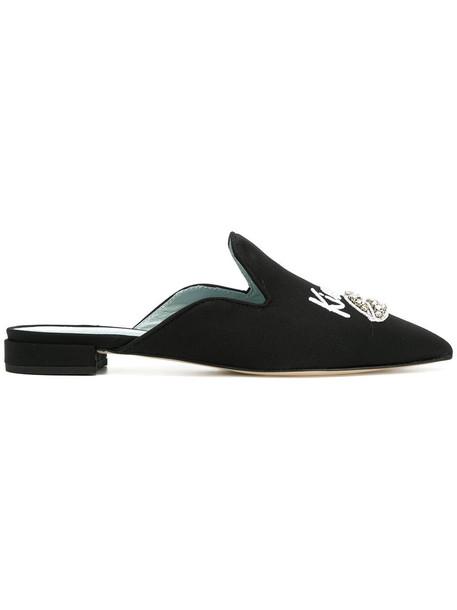 Chiara Ferragni women mules leather black shoes