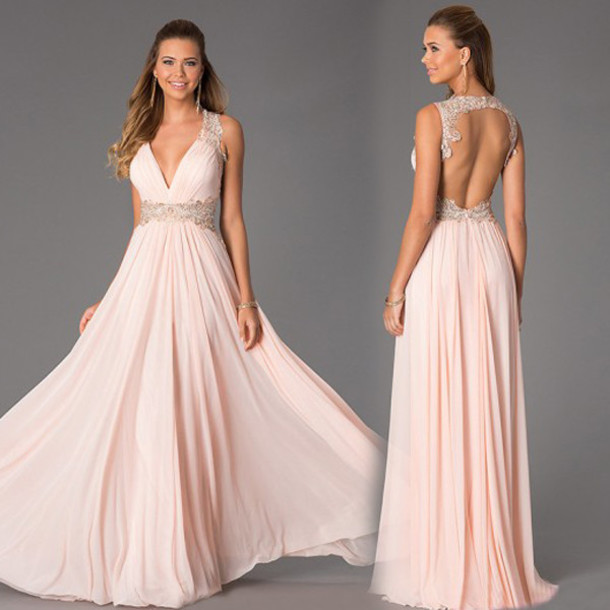 dress prom dress long prom d sexy prom dress long prom dress backless prom dress v neck dress pink prom dress pink dress long evening dress evening dress