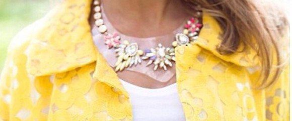 jewels accessory necklace yellow