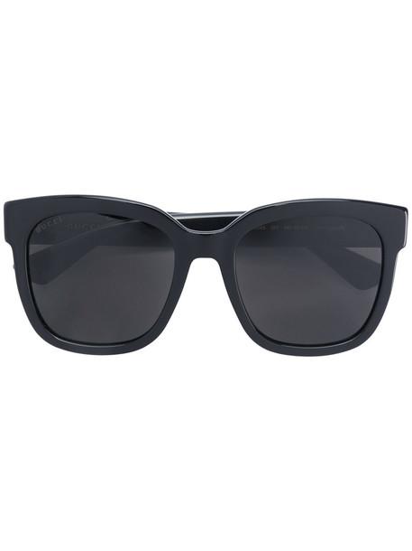 Gucci Eyewear - Classic Wayfarer Sunglasses - women - Acetate - 54, Black, Acetate