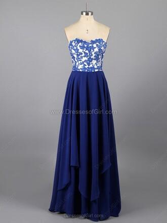 dress sheath column sweetheart chiffon floor-length lace prom dress
