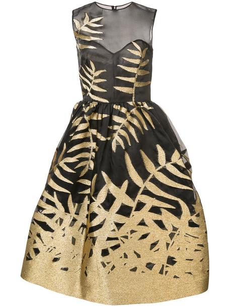 oscar de la renta dress women embellished black silk